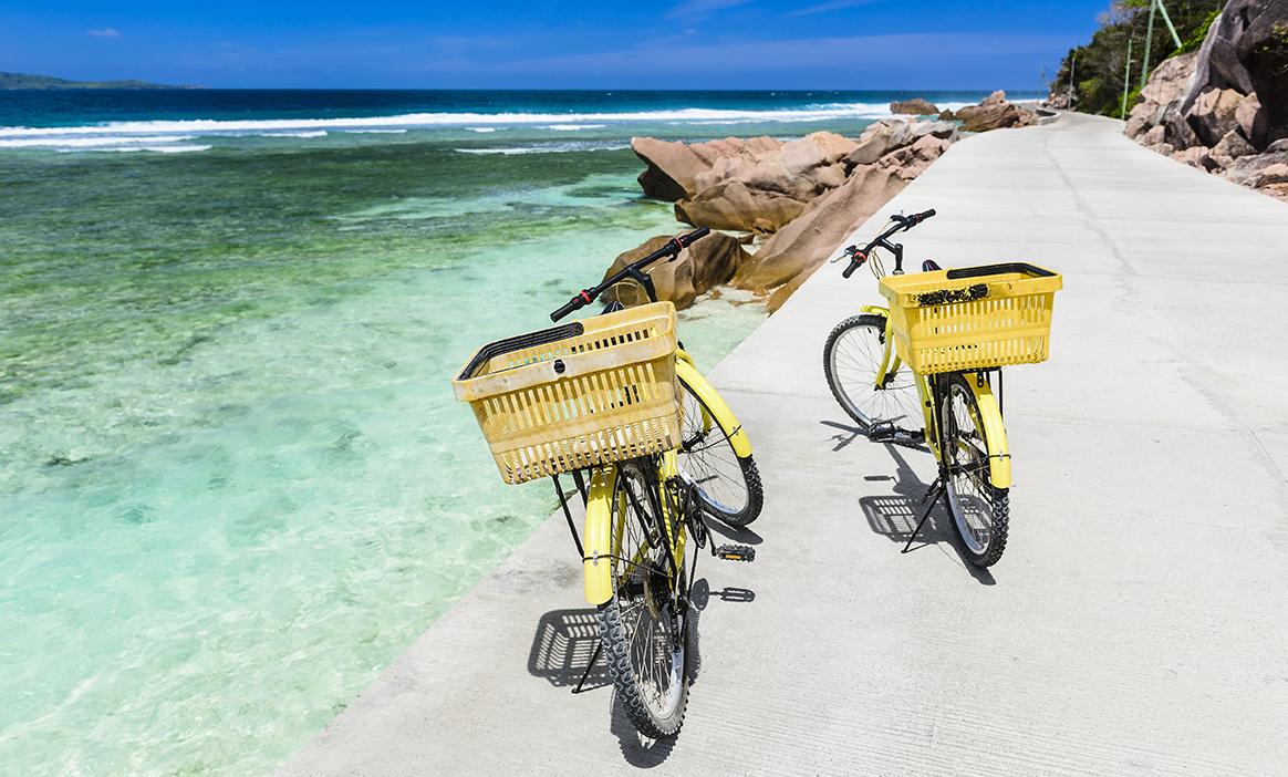 Fahrrad fahren auf den Seychellen